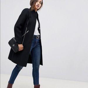 ✨NEW✨ ASOS • Smart Funnel Neck Wool Coat
